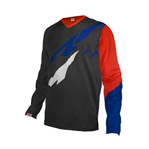 UGLY FROG Designs Bike Wear Mens Downhill Motocross Jersey Rage MTB Cycling Top Cycle Mountain Bike Shirt UK England Team GQX09M