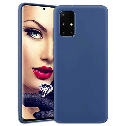 mtb more energy® Soft Silikon Hülle für Samsung Galaxy A32 5G (SM-A326, 6.5'') - dunkelblau - Ultra Silk Touch - Liquid Silicone Hülle Handyhülle Cover Tasche