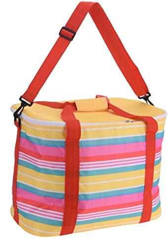 30L Kühltasche hochwertigen Thermotasche Isoliertasche Kühlkorb Eisbox, Längere, Zusammenklappbare,Auslaufsichere Lunch Tasche, Kühlbox für Camping Picknick Familienaktivitäten im Freien Gelb