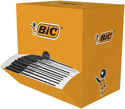BIC Cristal Original Kugelschreiber Stifte mit mittlerer Spitze (1,0 mm) – Schwarz, Box à 150