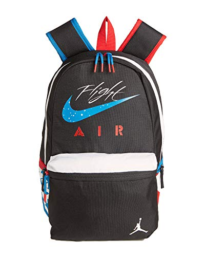 "Nike Air Jordan Jumpman What The AJ4 4 IV Backpack 15"" Laptop Backpack (One Size, Black(9A0377-023)/White)"