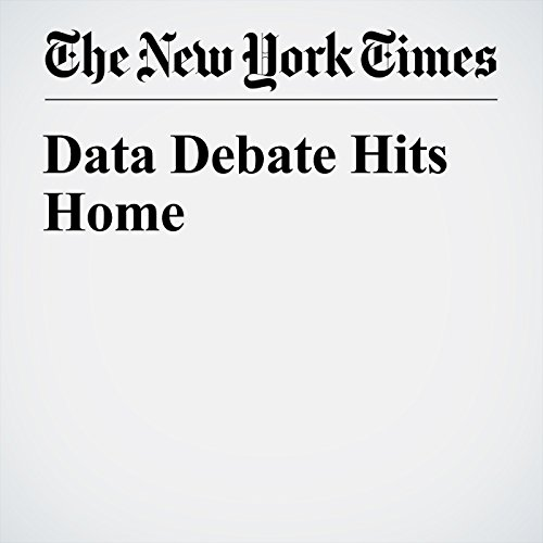 Data Debate Hits Home cover art