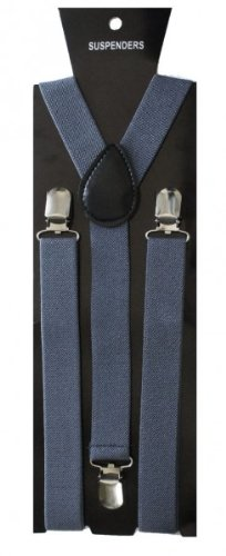 SoulCats Hosenträger für Damen Herren Y-Form,Farbe:grau