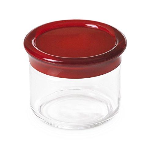Omada Design Pot en plastique incassable, capacité 0.5 L, hauteur 9 cm, Ligne Oblò,Rouge