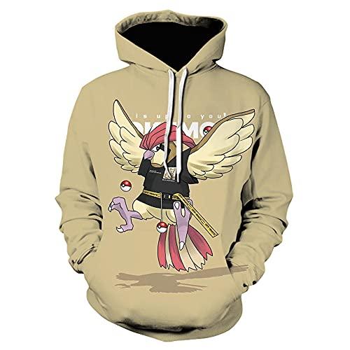 Pokemon Sudadera con Capucha Hoodie Niño Niña Manga Larga Sudadera con el Bolsillo Delantero Canguro-Anime_2XL