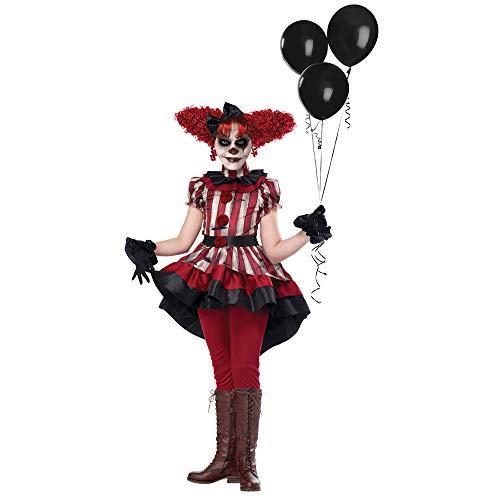 Girls Wicked Klown Horror Costume size XL 12-14