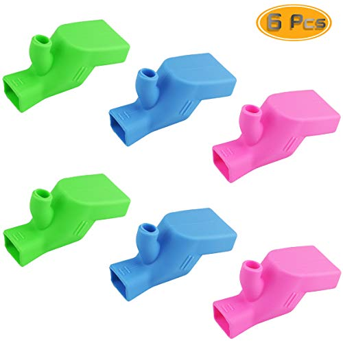 6 PCS Oruuum Food-Grade Silicone Faucet Extender, Water Spout Cover Tooth Brushing Gargle Hand Washing Extender for Kitchen Home Bathroom (2Blue, 2Green, 2Pink)