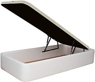 Canapé Polipiel Blanco tapizado 90x190cm Acabado de Esquina