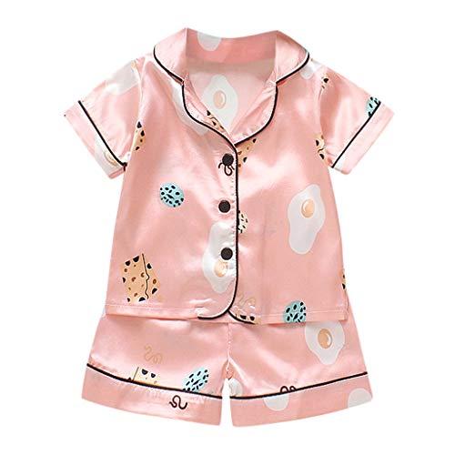 Julhold Kleinkind Kinder Baby Jungen Mädchen Mode Cartoon Pyjamas Nachtwäsche Bequemes T-Shirt Shorts Kleidung Set 0-3 Jahre