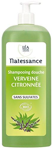 Natessance Hygiène Shampooing Douche Verveine Citron sans Sulfates 1 L