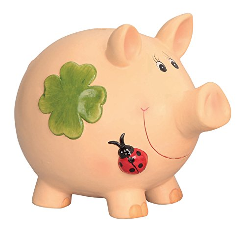Riesen Mega Jumbo Sparschwein mit Kleeblatt Keramik Spardose