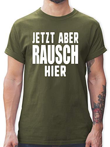Festival - Jetzt Aber Rausch Hier - XL - Army Grün - t-Shirt Herren Festival - L190 - Tshirt Herren und Männer T-Shirts