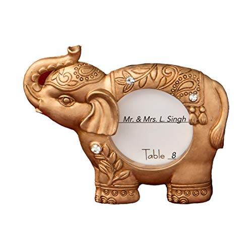 FavorOnline Good Luck Gold Indian Elephant Picture Frame And Placecard Holder, 20