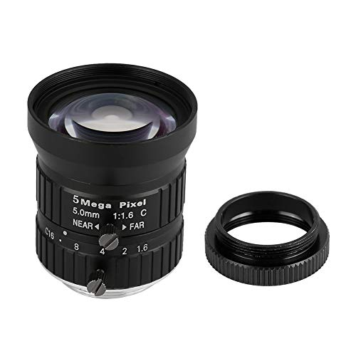 IDWT Lente de cámara de Seguridad, Lente de cámara de Repuesto de Longitud Focal de 5 mm Píxeles HD de Alta compatibilidad con Conector para el hogar para cámara de Seguridad de vigilancia