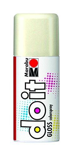 Marabu 21072006471 - Do it Gloss glanz weiß, Colorspray auf Acrylbasis, hochglänzend, sehr schnell trocknend, wetterfest, lichtecht, hochbrillante, 150 ml Sprühdose