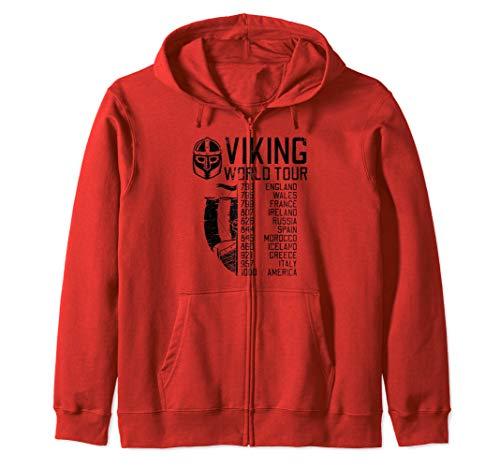 Viking World Tour | Wikinger Welttournee | Mythologie Kapuzenjacke