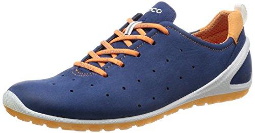 Ecco BiomLite - Zapatillas de Running de Cuero Mujer, Color Azul, Talla 38