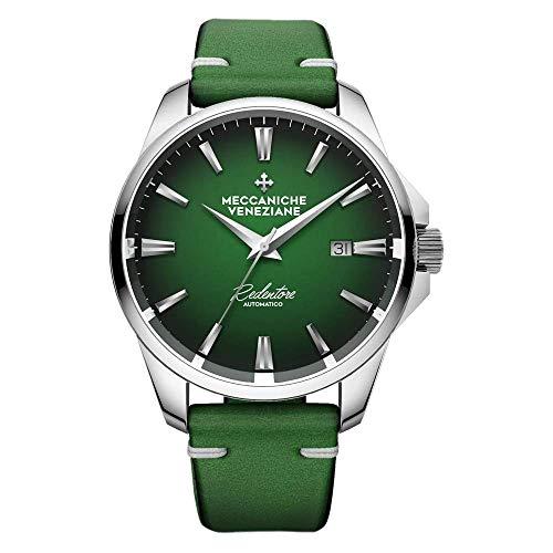 Orologio Automatico Meccaniche Veneziane Redentore 4.0 quadrante verde con cinturino artigianale in pelle italiana