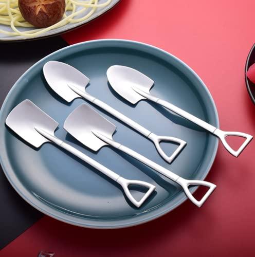 KOURO デザートスプーン アイススプーン スプーン ステンレス スコップ型 4本セット かわいい おしゃれ 業務用 飲料店 家庭用