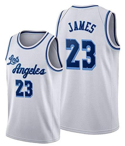 WSUN Camiseta NBA para Hombre, Los Angeles Lakers 23# Lebron James Jersey NBA Basketball Fan Jersey NBA Cool and Light Camiseta Deportiva Sin Mangas,C,XL(180~185CM/85~95KG)
