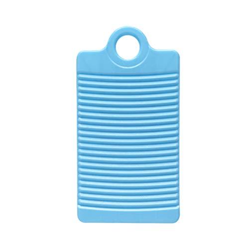 TOPBATHY Mini PP Lavado Tabla de Lavar Tabla de restregado de plástico Antideslizante para Lavar a Mano en el lavadero (Azul)