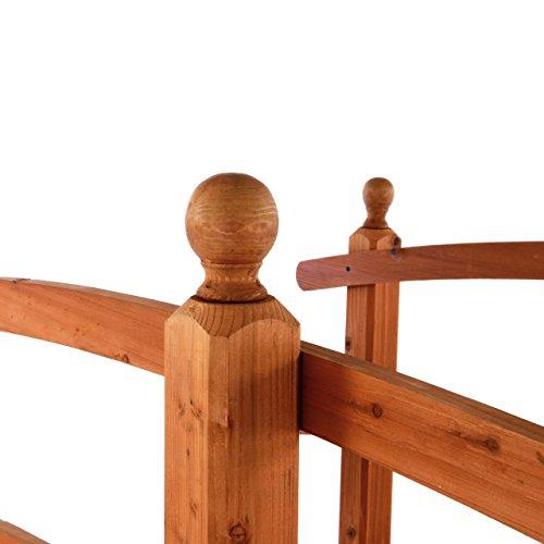 Gartenbrücke aus Holz mit Geländer - 2