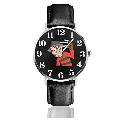 Los niños Miran Reloj Pulsera niño Historieta 3D Impermeable Número Reloj Freddy Krueger Pantalla Redonda 38mm Batería de botón Poder Unisex Watch