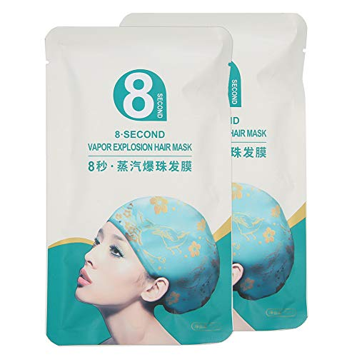 2Pcs Steam Hair Mask Cap-Hair Nourishing Conditioner Hair Softener High penetration Quick Absorption Steam Heating Hair Spa for Damaged Hair Repair and Daily Hair Care Portable Independent Packaging