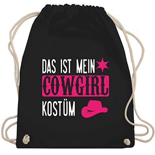 Shirtracer Karneval & Fasching - Cowgirl weiß - Unisize - Schwarz - Spruch - WM110 - Turnbeutel und Stoffbeutel aus Baumwolle