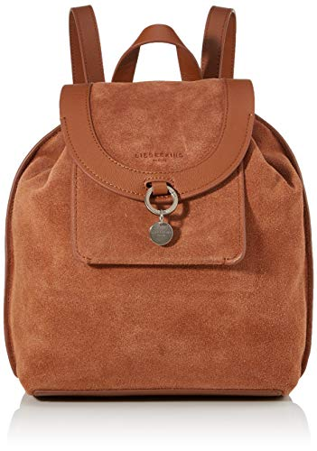 Liebeskind Berlin Damen Scouri 2-Backpack Medium Rucksackhandtasche, Braun (Bourbon), 15x33x27 cm