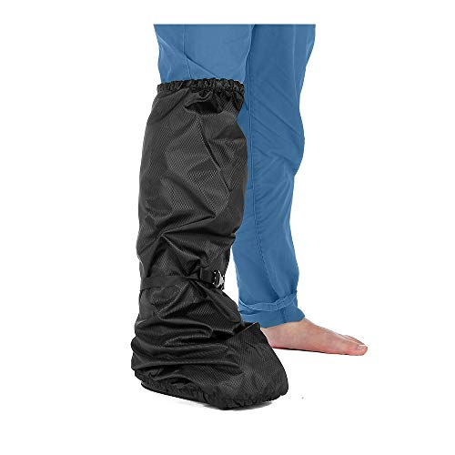 Walking Boot Cover Orthopedic Medical Air Walker Boot Foot Cast Cover for Ankle Fracture Rain Winter Snow Boot Covers Women Men Waterproof Tall Boot Protector Reusable Accessories (Black)