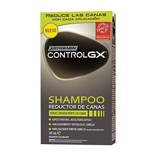 Just For Men Control GX - Champú Reductor de Canas, Tinte para las canas del pelo para hombres - 147 ml