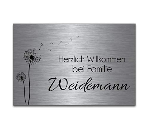 CHRISCK design -  Edelstahl Türschild