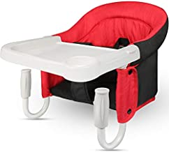 TOONOON Hook On Chair, Fast Table Chair and Clip on Table High Chair, Fold-Flat Storage Tight Fixing Portable Baby Feeding Seat for Baby Toddler Washable with Dining Tray for Travel or Restaurants