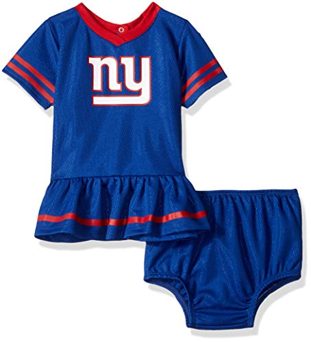 NFL New York Giants Baby-Girls 2-Piece Football Dress Set, Blue, 0-3 Months