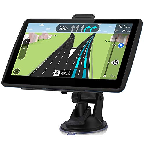 GPS Navigation for Car,7-inch Touch Screen Car GPS Real Voice Spoken Turn-by-Turn Direction Reminding Navigation System for Cars, Vehicle GPS Satellite Navigator with Free Lifetime Map Update