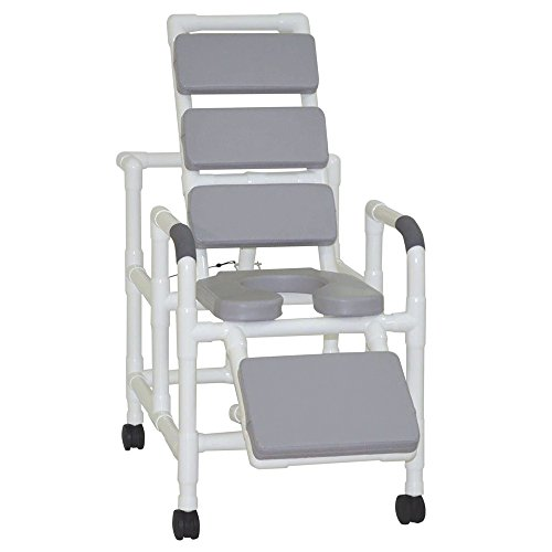 MJM International 193-SSDE-TP-GRY Reclining Shower Chair