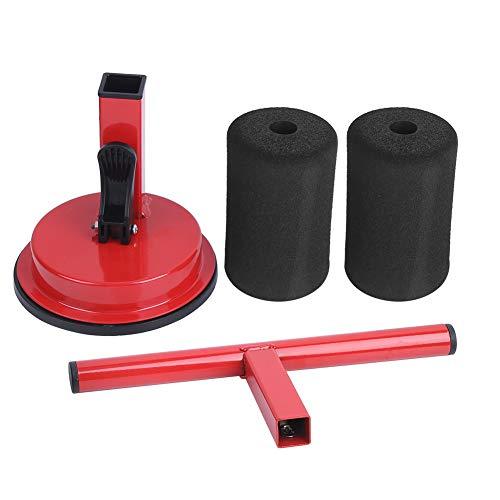 Oubit Situp Aid Situp Assist Gerät Situp Aid Assist Gerät Fitnessgeräte Saugnapf Bauchmuskel-Trainingsgerät(rot)
