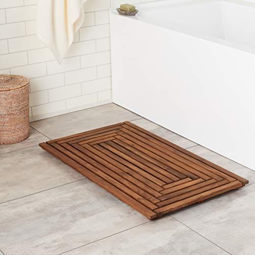 Bare Decor Giza Shower, Spa, Door Mat in Solid Teak Wood, 36