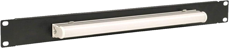 1U Black 19 Inch Server Cabinet Rack Steel Lighting Panel.