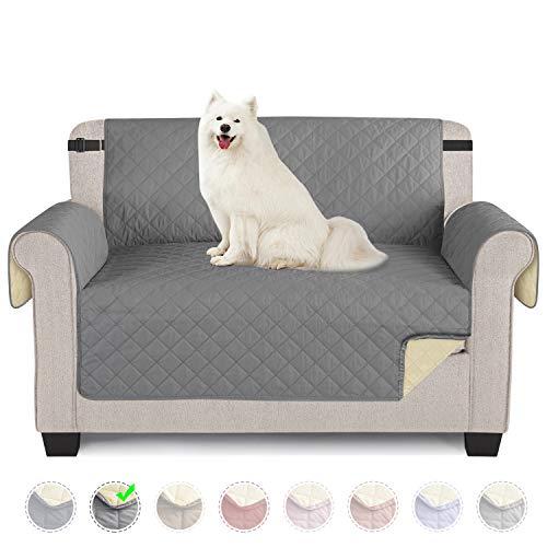 TAOCOCO Funda de sofá Impermeable Funda de cojín de protección para Mascotas Funda de sofá antisuciedad (Gris Claro/ 2 Plazas 120 * 190cm)