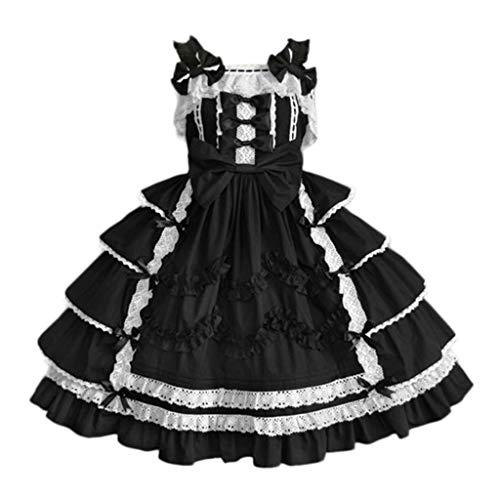 Binggong Steampunk Gothic Kleider Prinzessin Kleid Damen Karneval Kostüm Fasching Abendkleid Ballkleid Festkleider,Frauen Vintage Mittelalter Kostüm Große Größen