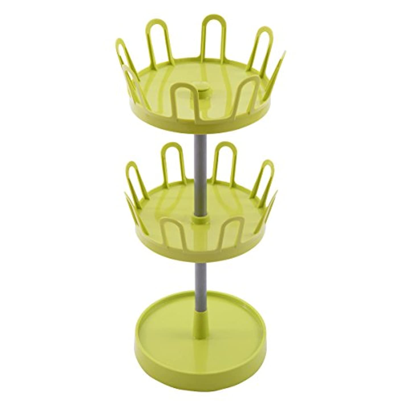 2 Tier 8 Pairs Upright Revolving Shoe Tree Rack Organizer Stand Dorm Home New Green