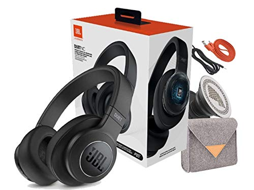 JBL Duet ANC Wireless Noise Cancelling On-Ear Headphones with Pouch-Phone Griper Stand (Retail Packing)