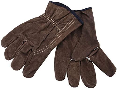 JKMQA Sicherheit Arbeitshandschuhe Schweißen Handschuhe Rind Hohe Temperaturbeständigkeit Schweißer Mechaniker Handschuhe Schweißen Isolierung Brandschutz Jobs Wear-Resistant Arbeitsschutz Industrie