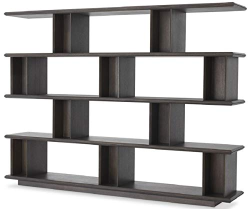 Casa Padrino gabinete de estantería de Lujo Moka 230 x 40 x A. 170 cm - Armario de Chapa de Roble - Armario de Libros - Muebles de Salón de Lujo