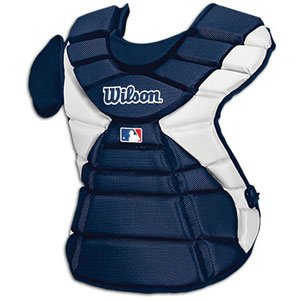 Wilson Pro Stock Hinge FX 2.0 Baseball Catcher's Chest Protector (Navy, 14-Inch)