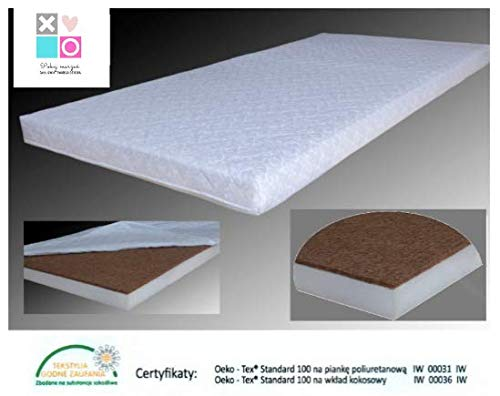 VERTICALUX - Colchón de Coco para habitación Infantil, 4 tamaños