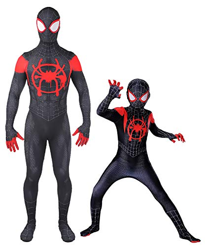 Halloween Superhero Costume Cosplay Suit Zentai Skin Tight Mens Bodysuit with Mask,Adult XL