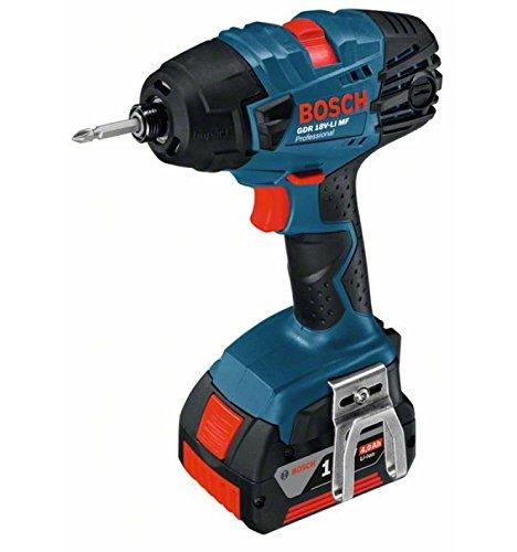 Preisvergleich Produktbild Bosch Professional 06019A1007 GDR 18 V-LI MF Akku-Drehschlagschrauber,  2 x 5,  0 Ah Akku,  Schnellladegerät,  L-Boxx (18V,  Max. Drehmoment: 160 Nm,  Schrauben-Ø M6 M14),  0 W,  18 V,  42921